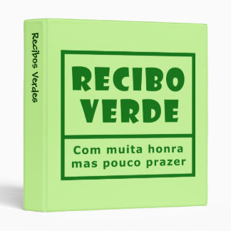 Recibos Verdes Binder