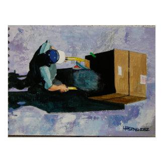 reciclador del EL Tarjeta Postal