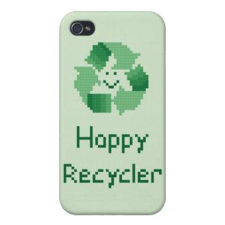 Reciclador feliz iPhone 4/4S fundas