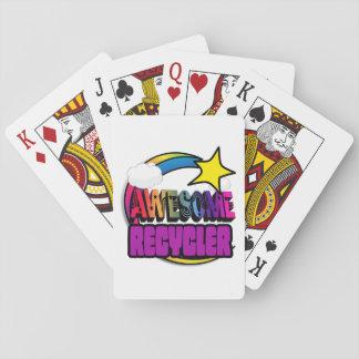 Reciclador impresionante del arco iris de la cartas de juego
