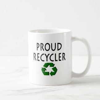 Reciclador orgulloso taza de café