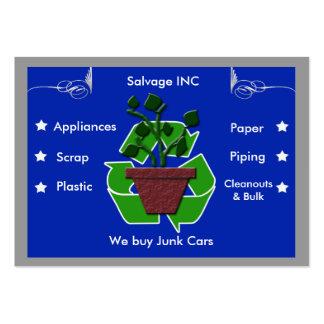 recicladores del pedazo tarjetas de visita grandes