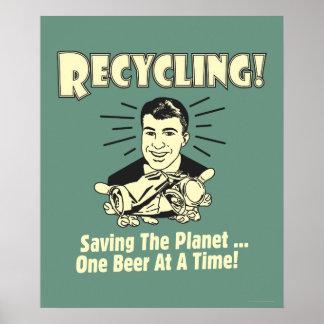 Reciclaje: Ahorro del planeta Póster