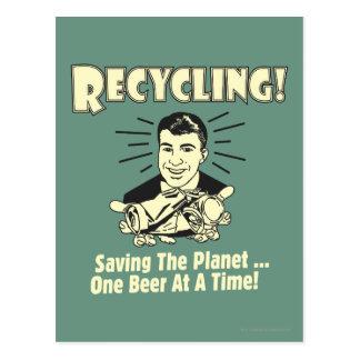Reciclaje: Ahorro del planeta Tarjeta Postal