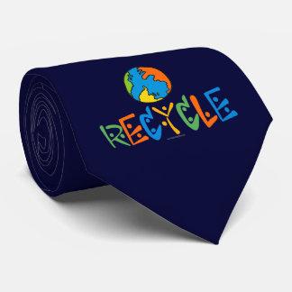 Reciclaje colorido corbata personalizada