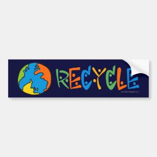 Reciclaje colorido pegatina para auto