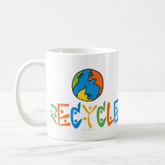Reciclaje colorido taza de café