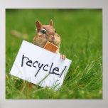 Reciclaje de chipmunk póster