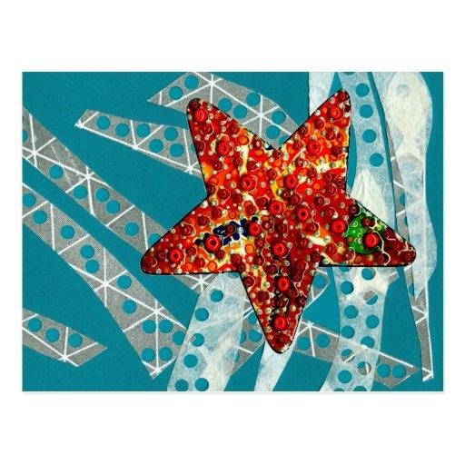 Reciclaje de estrellas de mar tarjeta postal