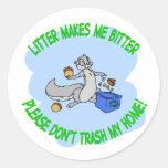 reciclaje de la ardilla etiquetas redondas