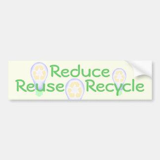 Reciclaje de la bombilla pegatina para auto
