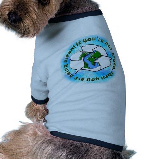 Reciclaje de la camisa del mascota ropa macota