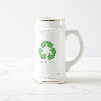 Reciclaje de la cerveza Stein Taza