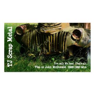 Reciclaje de la chatarra y recogida de basura tarjetas de visita