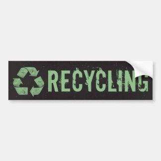 Reciclaje de la etiqueta de la papelera de recicla pegatina para auto