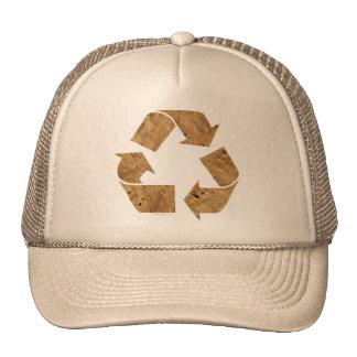 Reciclaje de la muestra gorras
