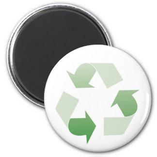 Reciclaje de la muestra imán redondo 5 cm