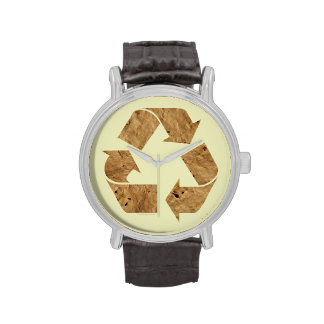 Reciclaje de la muestra reloj de mano