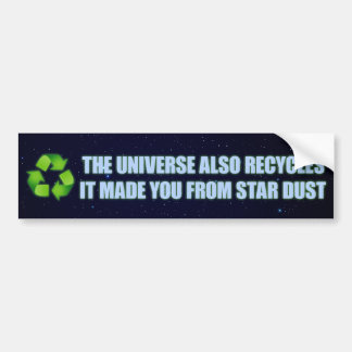 reciclaje de la pegatina para el parachoques etiqueta de parachoque