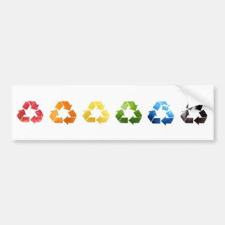 Reciclaje de la pegatina para el parachoques de la etiqueta de parachoque