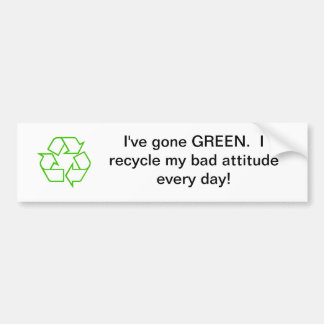 Reciclaje de la pegatina para el parachoques pegatina para auto