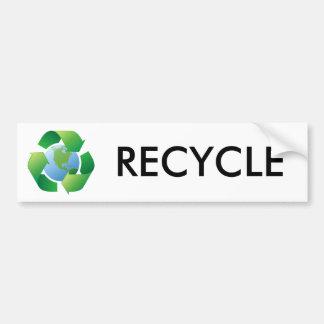 Reciclaje de la tierra circundante del planeta del pegatina para auto