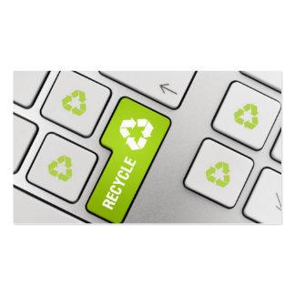 Reciclaje de retiro de la chatarra de los desperdi plantilla de tarjeta de visita