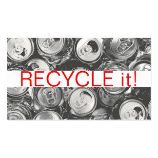 Reciclaje de retiro de la chatarra de los desperdi plantilla de tarjeta de negocio