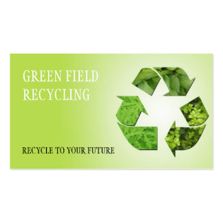 Reciclaje de retiro de la chatarra de los desperdi plantilla de tarjeta personal