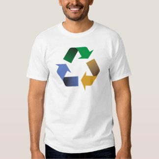 reciclaje de símbolo de las flechas playeras
