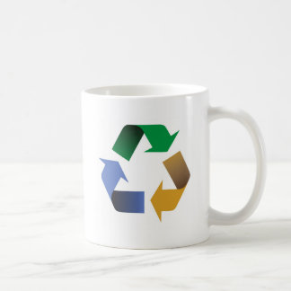 reciclaje de símbolo de las flechas taza de café
