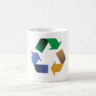 reciclaje de símbolo de las flechas taza