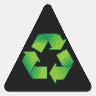 Reciclaje de símbolo calcomania triangulo personalizadas