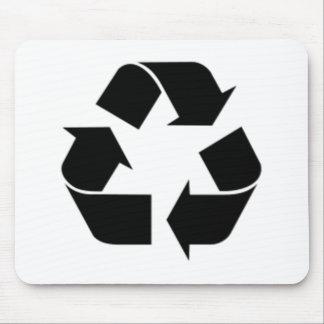 Reciclaje de símbolo tapete de ratones