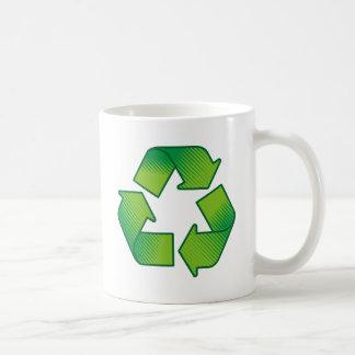 Reciclaje de símbolo taza de café