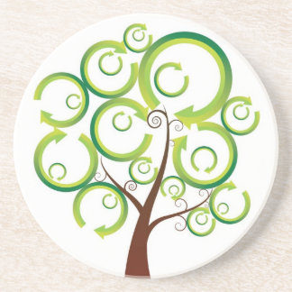 Reciclaje del árbol de la vida posavasos diseño