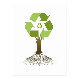 Reciclaje del árbol tarjetas postales