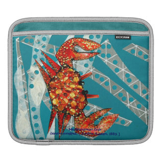 Reciclaje del cangrejo mediterráneo funda para iPads