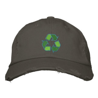 Reciclaje del gorra del símbolo gorra bordada