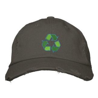 Reciclaje del gorra del símbolo gorra de beisbol