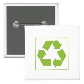 Reciclaje del logotipo pins