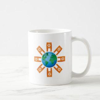 Reciclaje del mundo taza de café