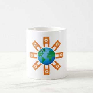 Reciclaje del mundo tazas