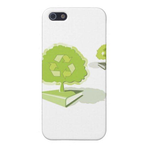 ¡Reciclaje del papel! ¡Ahorre los árboles! iPhone 5 Carcasa