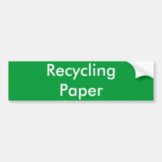 Reciclaje del papel pegatina para auto
