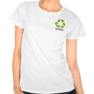 Reciclaje del partidario camiseta