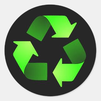 Reciclaje del pegatina del símbolo