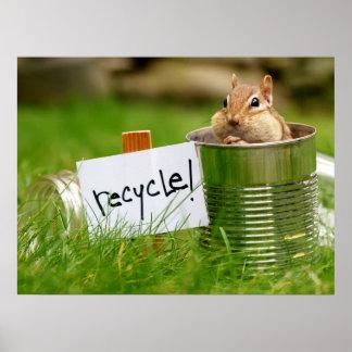 Reciclaje del poster del Chipmunk