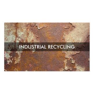 Reciclaje industrial tarjetas de visita