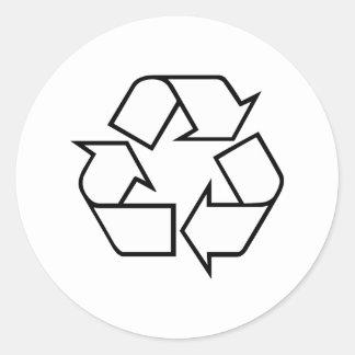 Reciclaje Pegatina Redonda